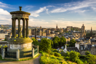 View of Edinburgh from the top of Calton Hill